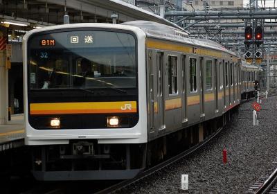 209系ナハ32編成TK入場