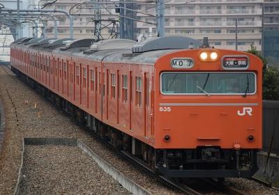 07M 103系KM6編成 大阪方面京橋行