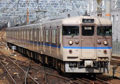 562M 113系S5編成 普通大阪行