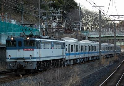9865レ EF65-1092+小田急4061F