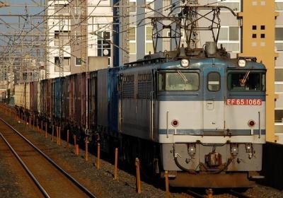 5593レ EF65-1066+コキ