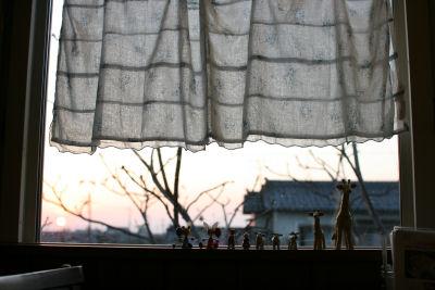 【抱っこ展】窓に並んでいる子タチ