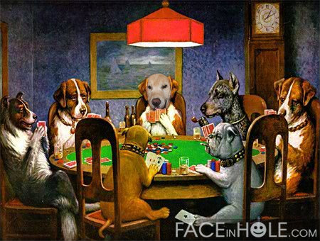 C. M. COOLIDGE - DOGS PLAYING POKER