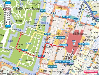 2010.2.19-東京ぶらりひとり旅021坂下門までの地図