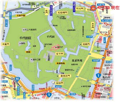 2010.2.19-東京ぶらりひとり旅021皇居地図2