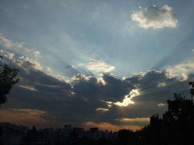 西郷山公園からの夕焼け