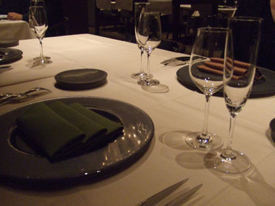 麹町 フランス料理 ARGO テーブルセッティング