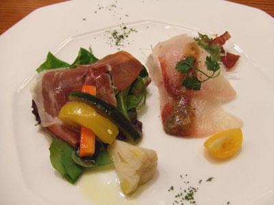 日航ホテル東京 鉄板焼き 銀杏 前菜