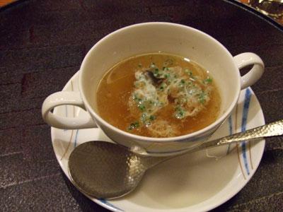 日航ホテル東京 鉄板焼き 銀杏 スープ