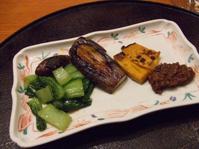 日航ホテル東京 鉄板焼き 銀杏 焼き野菜