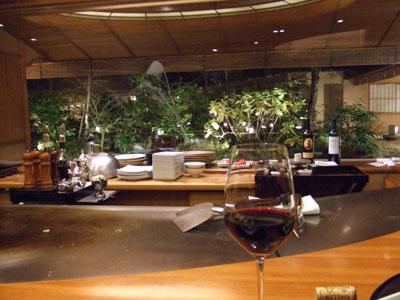 日航ホテル東京の鉄板焼き「銀杏」 ワイン