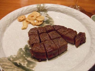 日航ホテル東京 鉄板焼き 銀杏 お肉