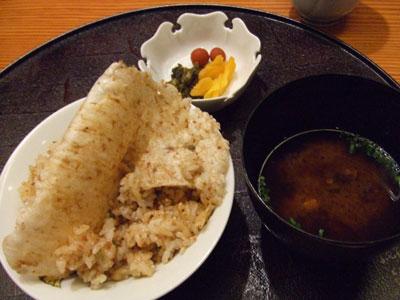 日航ホテル東京 鉄板焼き 銀杏 ガーリックライス