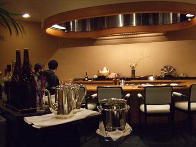 日航ホテル東京の鉄板焼き「銀杏」 店内