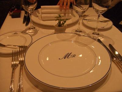 ミラヴィル (MIRAVILE) テーブルセッティング