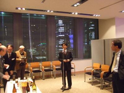 北高32回卒加藤淳子さんの講演会 同期挨拶