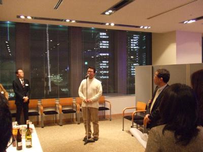 北高32回卒加藤淳子さんの講演会 後輩くん挨拶