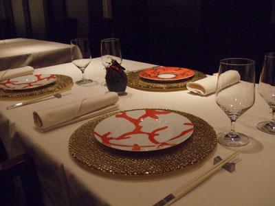 重慶飯店 麻布賓館 テーブルセッティング