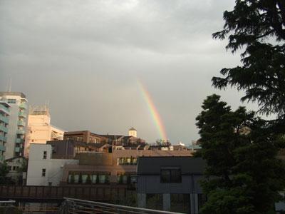アドレス代官山から虹を発見