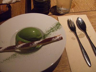 李南河(LINAMHA) 栗餅と抹茶アイス