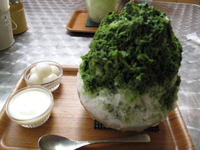 天然氷のかき氷屋『埜庵』(kohori-noan)  抹茶金時