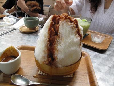 天然氷のかき氷屋『埜庵』(kohori-noan)  練乳キャラメル