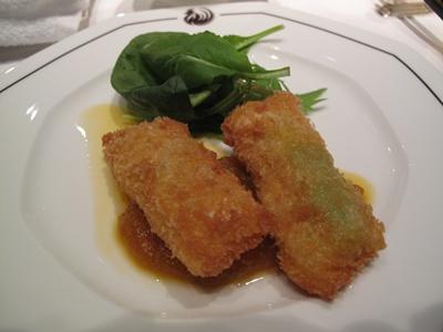 ザ・ペニンシュラ東京 「ヘイフンテラス」 空豆オブラート包み揚げ