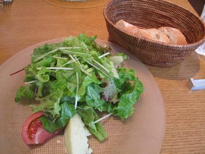 HYBRID TRATTORIA CUJORL (ハイブリッド トラットリア クヨール) サラダとパン