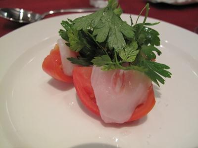 Celeb de Tomato(セレブ・デ・トマト)フルーツトマトと鮮魚のカルパッチョ