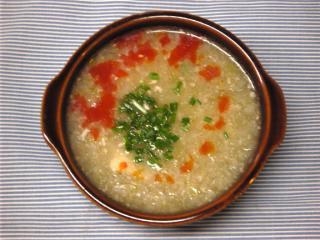 くずし豆腐とたっぷりネギのスープ