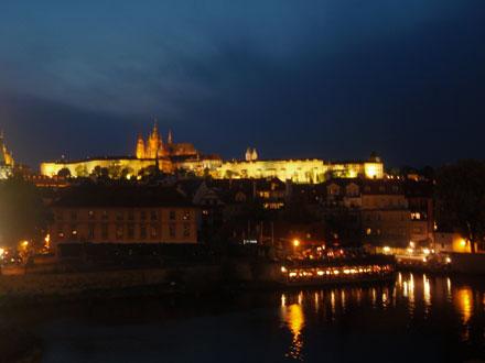 カレル橋からの夜景3