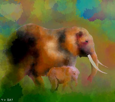 おほほ・・・象です