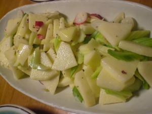 リンゴとセロリのサラダ