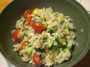低タンパク米のライスサラダ
