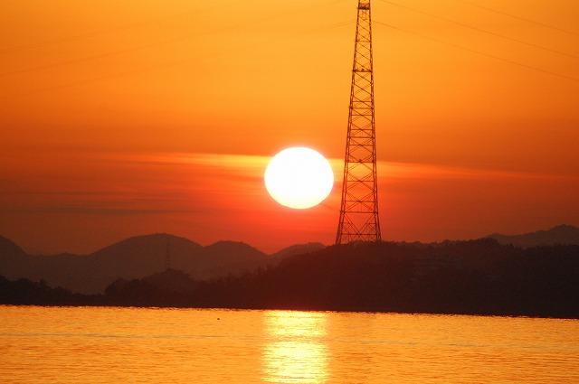 海と夕日 037