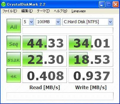 T43 160GB_HDDベンチ