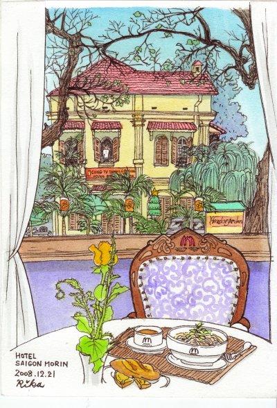 ベトナム ホテルの朝食 完成!