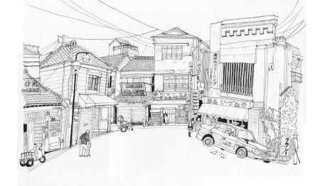 三崎漁港の商店街