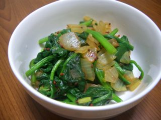 spinich with mustard seed