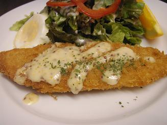 白身魚のフライ マスタードソース