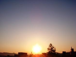 3月震災後初の朝日