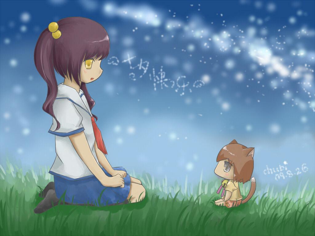 七夕快#20048;~少女与流浪猫(有字小#21387;#32553;版)