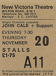 johnCale ticket