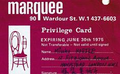 maquee memberscard