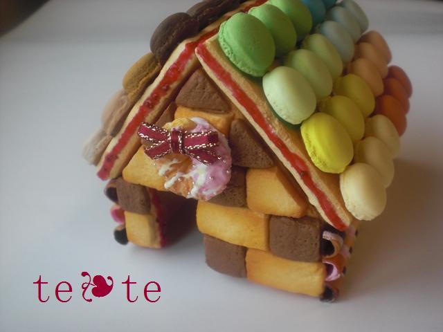 お菓子の家完成