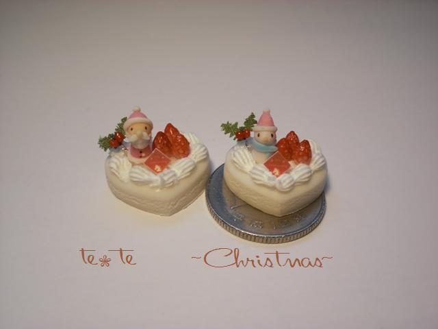 ハートのXmas cake