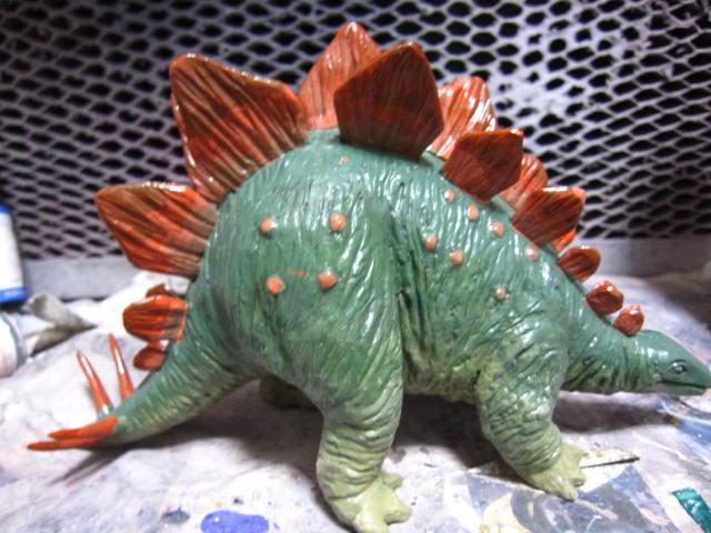 ステゴサウルス 塗装 (7)