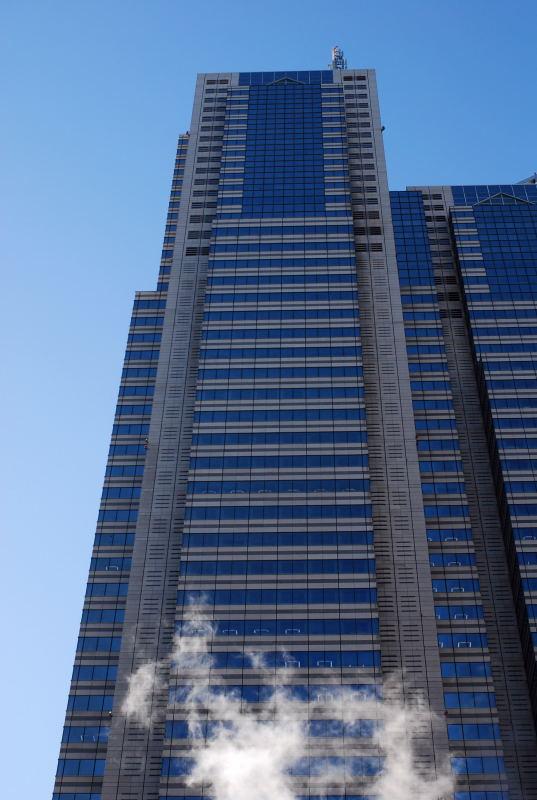 新宿パークタワー煙
