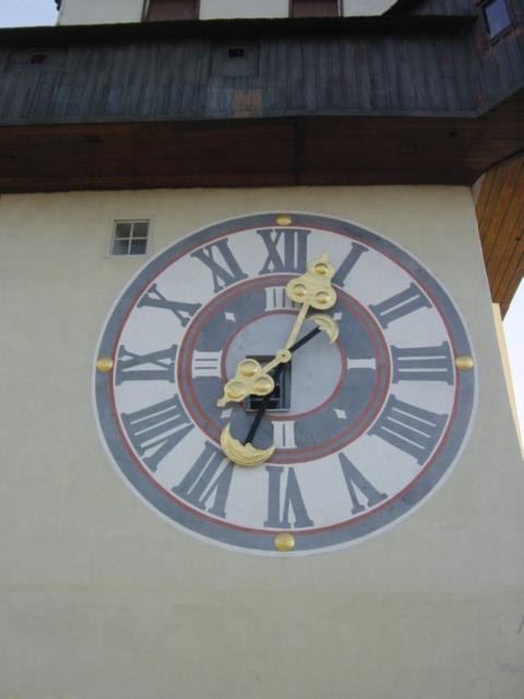 グラーツェ・シュロスベルクの時計塔