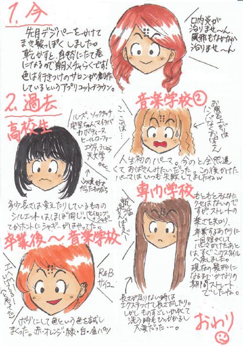 髪型バトン